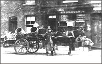Stephen Silcock outside his in Gledhill Street, Salford circa 1919